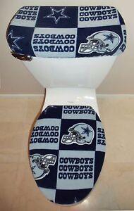 Image Is Loading Nfl Dallas Cowboys Toilet Seat Cover Set Bathroom
