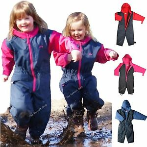 Bwiv Rainsuit Waterproof Rainwear All-In-One Rain Suit for Girls and Boys Outdoor Daily Years Children £ Prime Wetplay PlaySuit All In One Kids Waterproof Suit Childrens Childs Boys Girls, 1 .