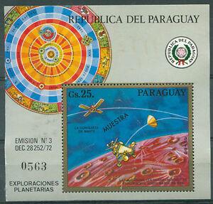 PARAGUAY - SPACE COSMOS Mi # Bl 209 SPECIMEN - Mint no Gum
