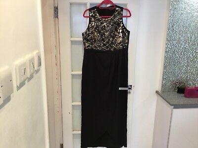 Little Mistress Crochet Maxi Dress uk size 16 bnwt