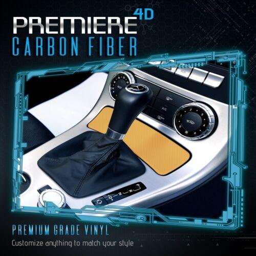 "4D Yellow Carbon Fiber Gloss Vinyl Wrap Bubble Free Air Release 12/"" x 60/"" In"