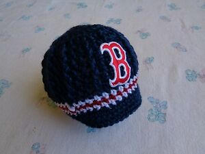 Image is loading Crochet-Boston-Red-Sox-Baby-Hat 764f2e69dae