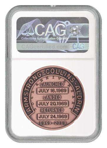 1969-2019 Apollo 11 50th Robbins Medal 1 oz Copper Medal NGC MS70 FDP SKU55118