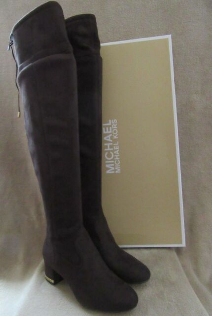 907785b1103 Frequently bought together. MICHAEL KORS Jamie Coffee Stretch Suede Leather Mid  Boots ...