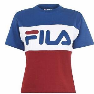Debardeur-FILA-Allis-tee-shirt-a-encolure-ras-du-cou-Shirt-NEW