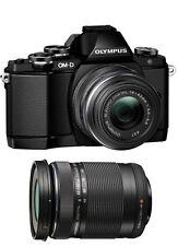 Olympus OM-D E-M10 Digital Camera with 14-42mm EZ & ED 40-150mm Lenses (Black)