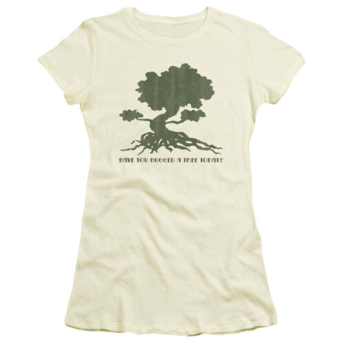 HAVE YOU HUGGED A TREE TODAY Juniors Cap Sleeve T-Shirt