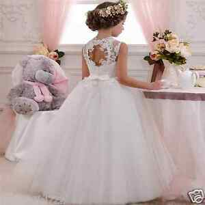 Girl's Lace Baby Princess Bridesmaid Flower Girl Dresses Wedding Party Dresses