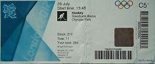 Boleto Olympia 29.7.2012 Women 's hockey china-corea del sur c51