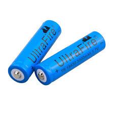 2pcs Blue 3000mAh 18650 3.7V Rechargeable Li-ion Battery Batteries