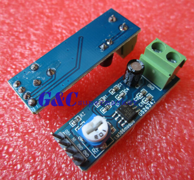 2PCS LM386 Audio Amplifier Module 200 Times 5V-12V 10K Adjustable Resistance M55