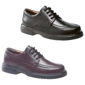 0bc0c175347 Roamers LOWELL Mens Leather 4 Eye Lace-Up Wide E Fit Comfy Office ...