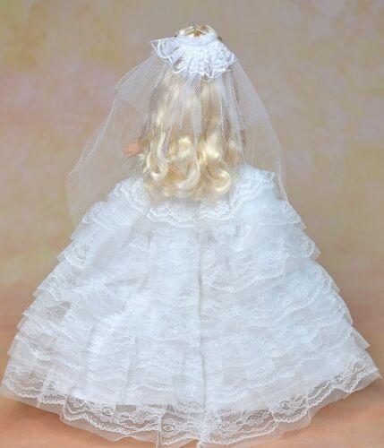 "High Quality Elegant Wedding Dress For 11.5/"" Dolls Clothes Party Dress Veil"