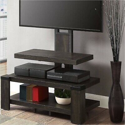 Tv Stand Entertainment Center 3 Shelf Media Storage With Floater Mount Furniture Ebay