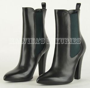16d1d59a7b8f Image is loading 995-GUCCI-ANKLE-BOOTS-BLACK-LEATHER-HIGH-HEEL-