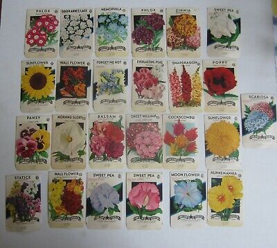 EMPTY TEXAS Lot of 15 Old Vintage 1940/'s FLOWER SEED PACKETS Lone Star