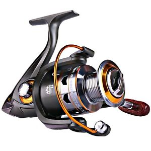 Sougayilang Spinning Fishing Reels with Left/Right Interchangeable Collapsibl...