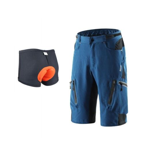 Men/'s Mountain Bike Waterproof Shorts Cycling Shorts With Padded 3D Underwear