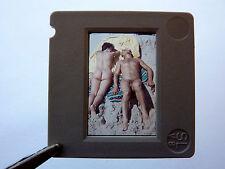 Nudism NUDE COUPLE ON BEACH NACKTES PAAR AM STRAND FKK * DDR Dia 1950s GDR Slide