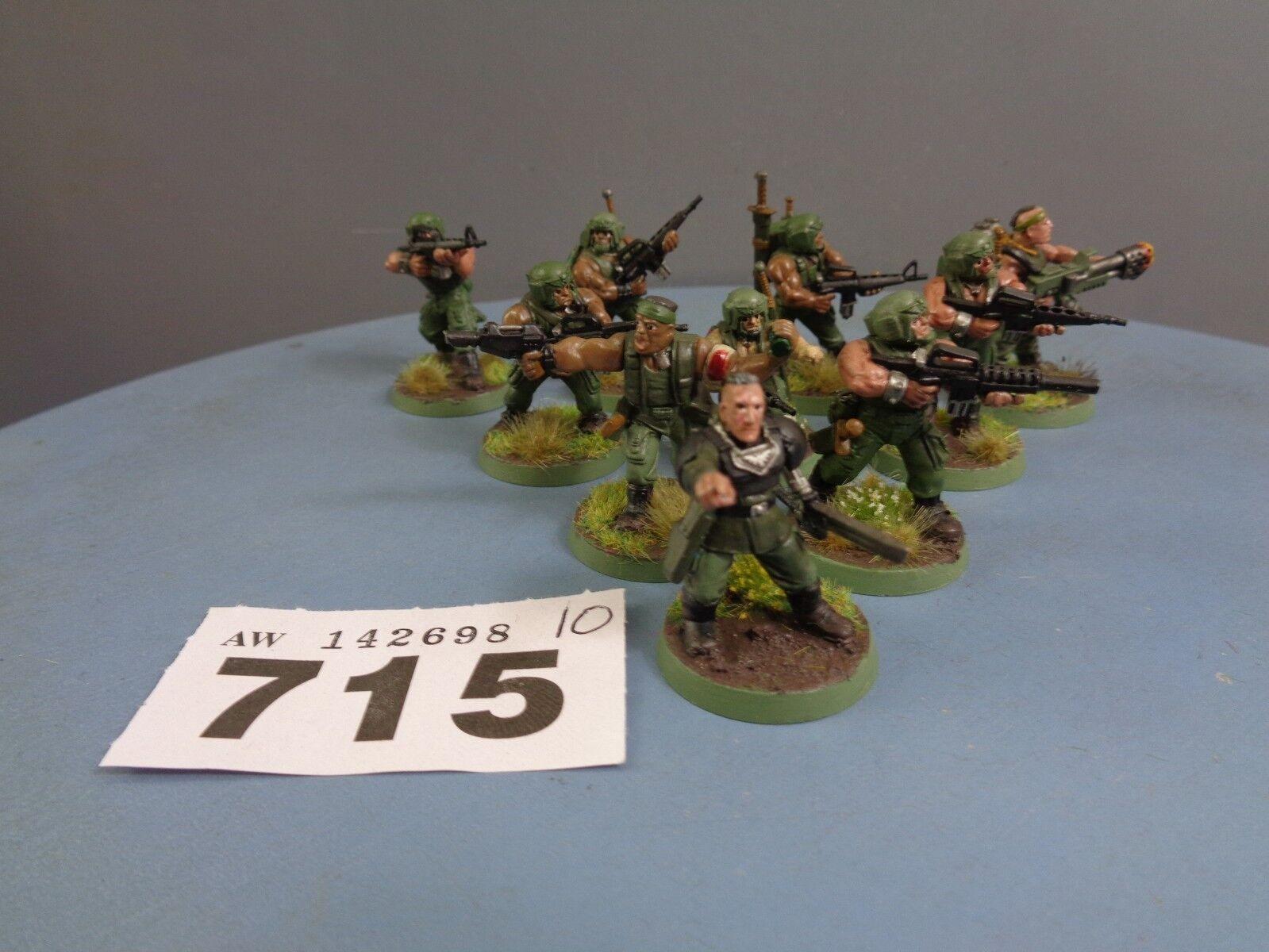 Warhammer Astra Militarum Imperial Guard Catachan Cadian Vet Guardsmen Squad 715