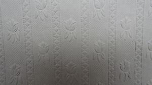 Anaglypta paintable wallpaper floral design white bnib for Paintable wallpaper home hardware