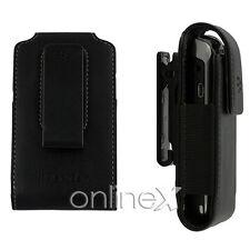 Funda Piel Pinza PU Blackberry 9360 Negro a1015