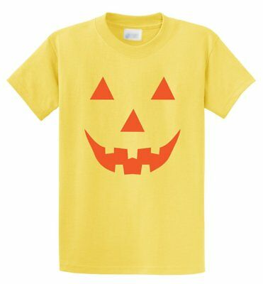 Easy Halloween Costume Fun Tee JACK O LANTERN PUMPKIN Ladies T-shirt