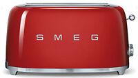 Smeg 50's Retro Style Aesthetic 4 Slice Toaster 1400w Electric Red