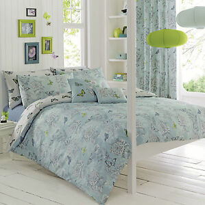 Dreams-amp-Drapes-AVIANA-Butterfly-Floral-Duvet-Set-Bedding-Cushions