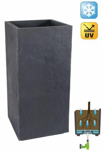 KREHER PflanzkübelrechteckigGebrochene Stein-OptikAnthrazit