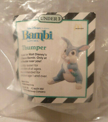 1988 MCDONALDS DISNEY BAMBI HAPPY MEAL TOY #1  BAMBI NEW IN BAG