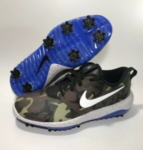 Details about NEW Nike ROSHE G Tour NRG Camo Golf Shoes Men Size 8 Olive Green Blue BQ4813 201