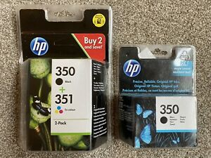 Genuine-HP-350-x-2-351-Black-amp-Tri-colour-Ink-Cartridges-SD412EE-NEW-SEALED