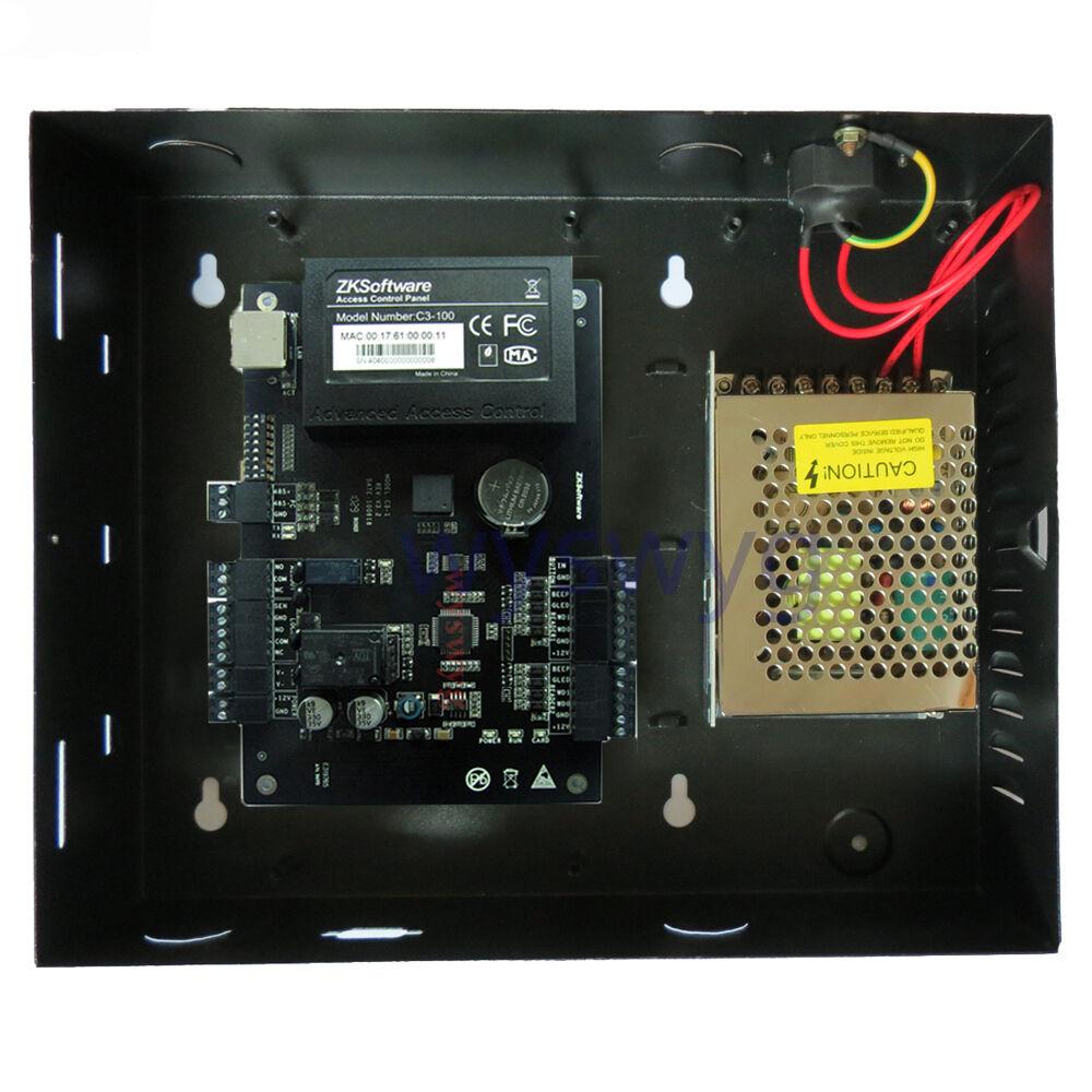 Puerta de una sola TCP IP Control De Acceso Rfid RFIC tarjeta 110V-240V fuente de alimentación C-100 Zk