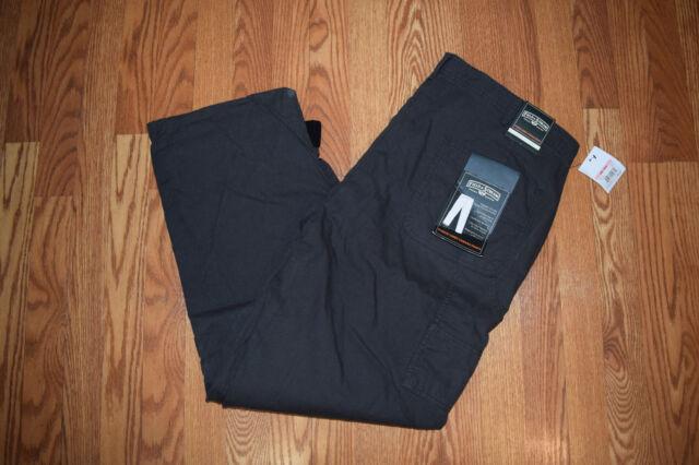 2b98f3dd686c2 Mens Field & Stream Fleece Lined Canvas Raven Gray Pants 40 W 30 L ...