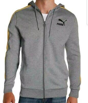 Puma Mens Classics T7 Logo FZ Hoody FL Gray Sweatshirt Hoodie XL 191241977203   eBay