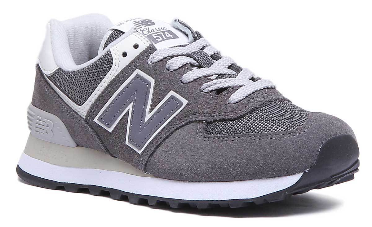New Balance 574 WL574CRD damen grau Suede Leather Trainers UK Größe 3 - 8