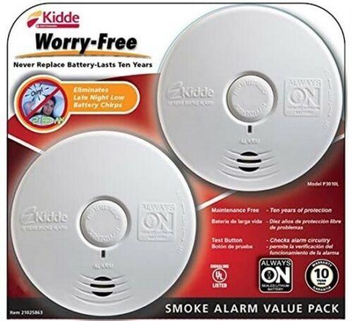 Kidde Worry-Free Smoke Alarm 2 Pices