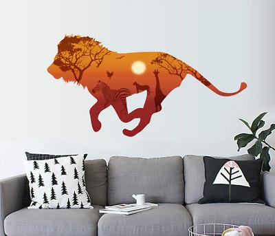 Large Lion-Sun-Zebra-Giraffe Wall Sticker Home Living Room Decal Office Gift UK