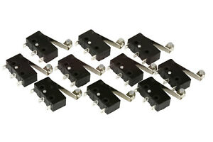 10-pc-TEMCo-Micro-Limit-Switch-Roller-Arm-Subminiature-SPDT-Snap-Action-LOT