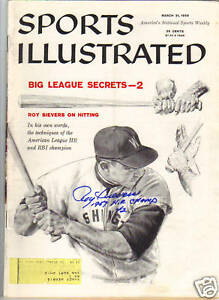 ROY-SIEVERS-Signed-Sport-Illustrated-Magazine-3-31-58