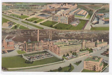 Firestone Rubber Tire Factory Panorama Akron Ohio 1957 postcard