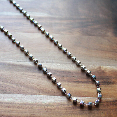 Hand-Crafted Delicate Silver Crystal Long necklace