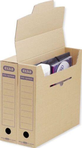 Elba Archivbox Sammelbox Aufbewahrungsbox 12er PC braun Verschlusslasche Archiv