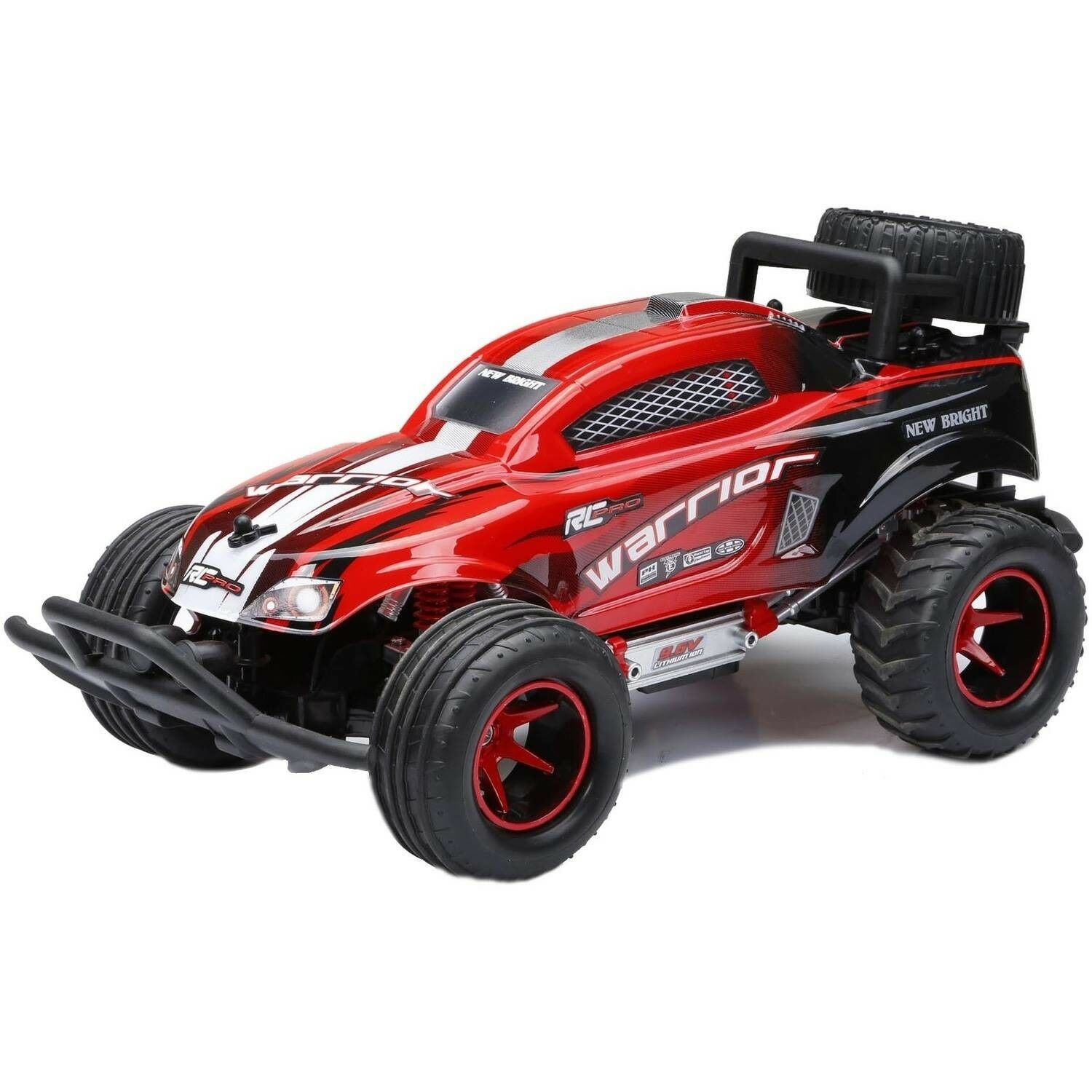 Nuovo Bright 1:16 R/C Full-Function 9.6V Pro Warrior, rosso Remote Control Play