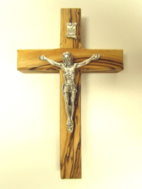 Olive Wood Crucifix Hanging Wall Cross From Holy Land - Bethlehem ...