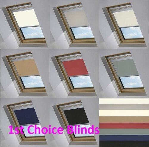 BLACKOUT THERMAL SKYLIGHT RED ROLLER BLIND FOR VELUX ROOF WINDOWS ALL SIZES