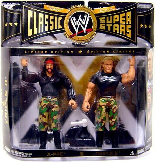 ventas al por mayor WWE Wrestling Classic súperEstrellas X-Pac & Triple H H H Figura De Acción 2-Pack  mejor calidad mejor precio