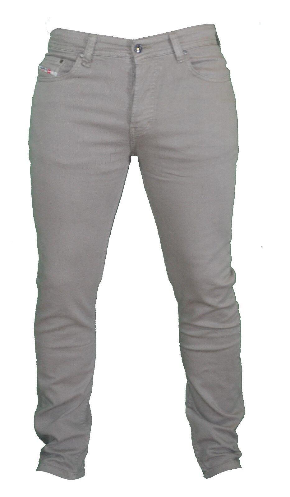 BNWT Diesel per successo LIVING LIVING LIVING colore kaki oliva Casual Pantaloni Jeans Slim Fit 759156