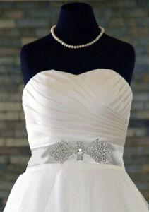 Bridal-034-Pamela-034-Diamante-Rhinestone-Crystal-Applique-Wedding-Dress-Belt-Costume